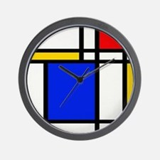 Mondrian-2a Wall Clock