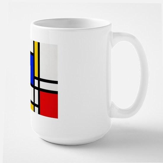 Mondrian-2a Large Mug Mugs
