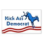 Kick Ass Democrat bumper sticker