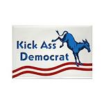 Rectangular Kick Ass Democrat Magnet