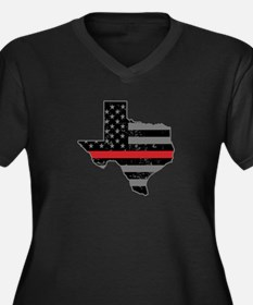 Texas Firefighter Thin Red Line Plus Size T-Shirt