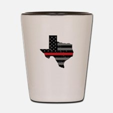 Texas Firefighter Thin Red Line Shot Glass