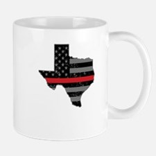 Texas Firefighter Thin Red Line Mugs