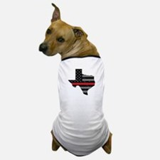 Texas Firefighter Thin Red Line Dog T-Shirt