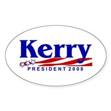 JOHN KERRY PRESIDENT 2008 Oval Decal