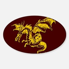 Gold Dragon on Maroon Decal