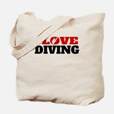 I Love Diving Tote Bag