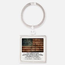 Defining Forces Square Keychain