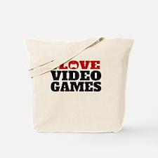 I Love Video Games Tote Bag