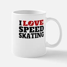 I Love Speed Skating Mugs