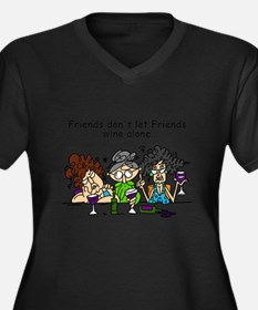 Cute Best friends Women's Plus Size V-Neck Dark T-Shirt