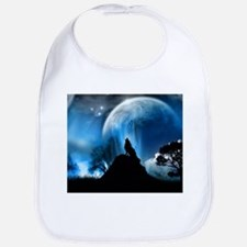 Wolf Howling At The Moon Bib