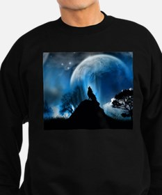 Wolf Howling At The Moon Jumper Sweater