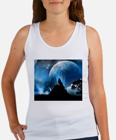 Wolf Howling At The Moon Tank Top
