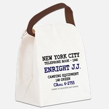 NEW YORK CITY TELEPHONE BOOK 1940 Canvas Lunch Bag