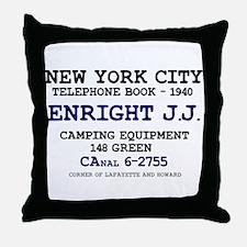 NEW YORK CITY TELEPHONE BOOK 1940 - E Throw Pillow