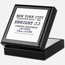 NEW YORK CITY TELEPHONE BOOK 1940 - E Keepsake Box