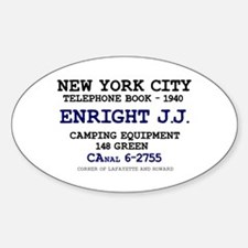 NEW YORK CITY TELEPHONE BOOK 1940 - ENRIGH Decal