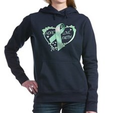 Cute Ovarian cancer month Women's Hooded Sweatshirt