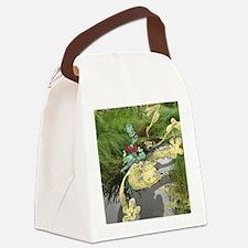 Wetland Hopper. Canvas Lunch Bag