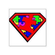 "Cute Autism awareness Square Sticker 3"" x 3"""
