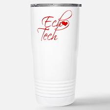 Cursive Ech(heart) Tech Stainless Steel Travel Mug