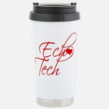 Cursive Ech(heart) Tech Travel Mug