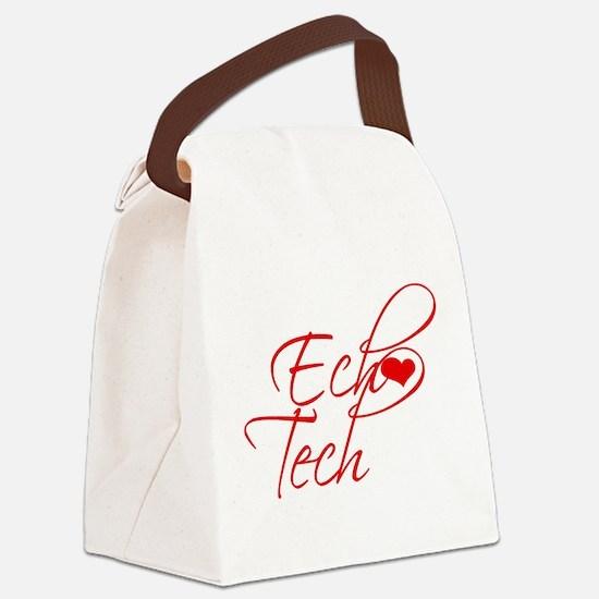 Cursive Ech(heart) Tech Canvas Lunch Bag
