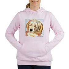 Unique Support rescued golden retrievers Women's Hooded Sweatshirt