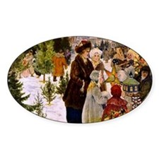Christmas Market, 1906 Painting Decal