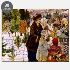 Christmas Market, 1906 Painting Puzzle