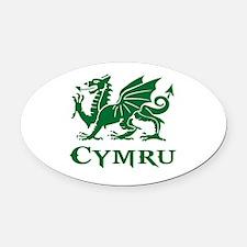 Cool Cymru Oval Car Magnet