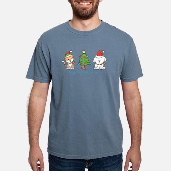 Cat and Dog Christmas T-Shirt
