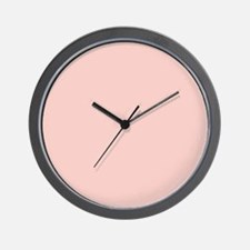 Solid Light Pink Wall Clock