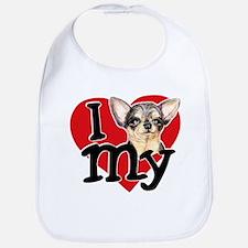 Love My B&T Chihuahua Bib