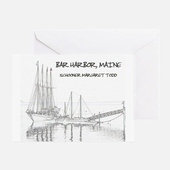 Bar Harbor Schooner Greeting Card