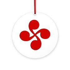 Cute Lauburu Round Ornament