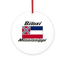 Biloxi Mississippi Ornament (Round)