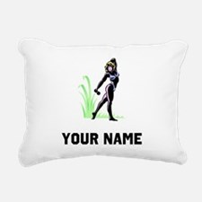 Female Bodybuilder Rectangular Canvas Pillow