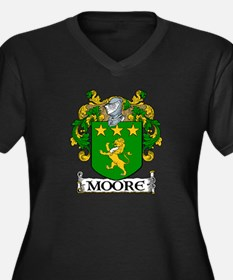 Moore Coat of Arms Women's Plus Size V-Neck Dark T