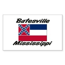 Batesville Mississippi Rectangle Decal