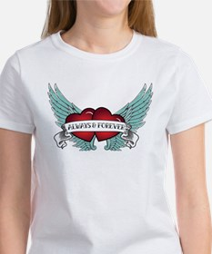 Always and Forever Rockabilly Winged Heart T-Shirt