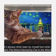 Most Interesting Cat Tile Coaster