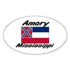Amory Mississippi Oval Decal