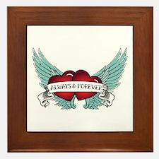 Always And Forever Rockabilly Winged Framed Tile