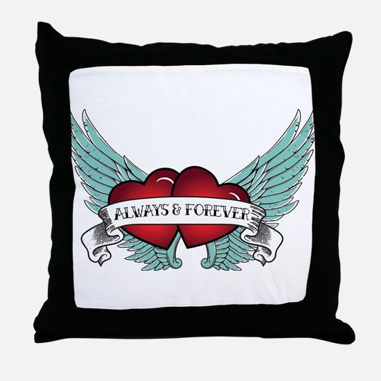 Always and Forever Rockabilly Winged Heart Throw P