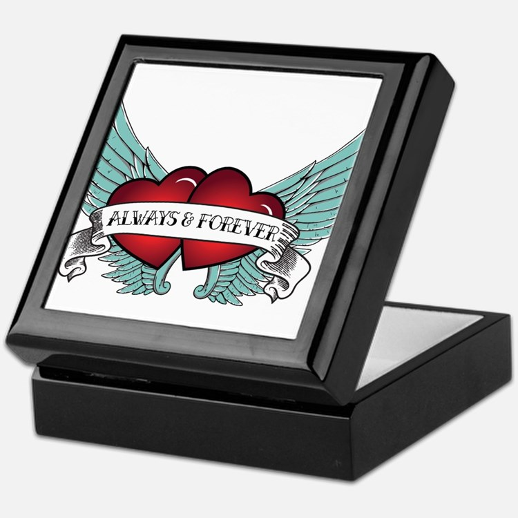 Always And Forever Rockabilly Winged Heart Keepsak