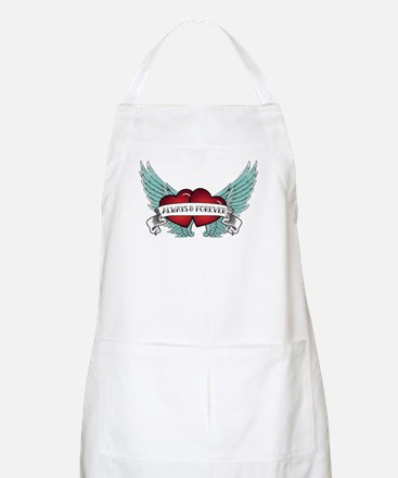 Always and Forever Rockabilly Winged Heart Apron