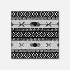 Black And White Aztec Pattern Sticker