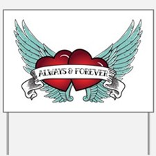 Always and Forever Rockabilly Winged Heart Yard Si